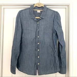 Jcrew The Perfect Shirt in Chambray Dot